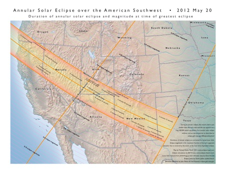 Annular Solar Eclipse Of May - South west us map